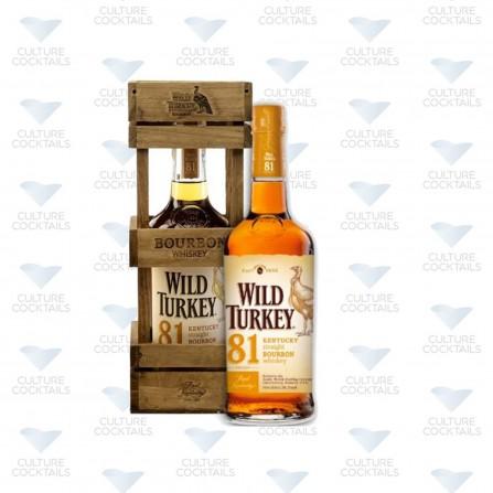 WILD TURKEY 81 BOURBON COFFRET BOIS